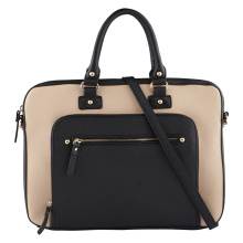 Hand Made Leather Briefcase 17.3 Inches Leather Waterproof Laptop Bag Leather Satchel Shoulder Brief Case