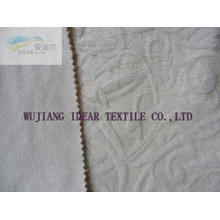 Embossed Flocked Fabric Bonded With Knitted Fabric