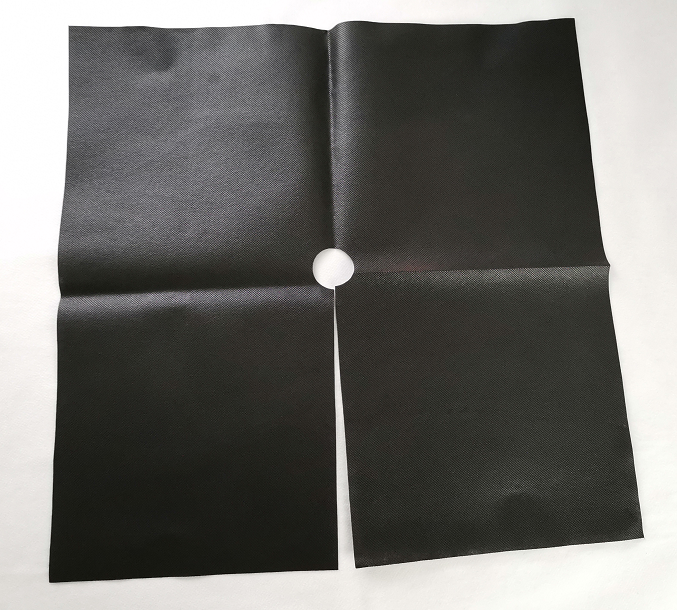 Black Non Woven With Perforated