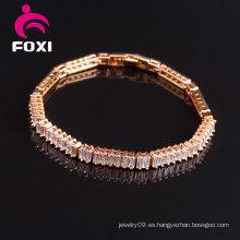 Venta caliente joyería de piedras preciosas de oro rosa joyería