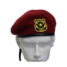 Vermelho, lã, militar, boina, (gk25-003)