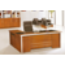 Исполнительный старинный деревянный современный исполнительный стеклянный верхний офисный стол