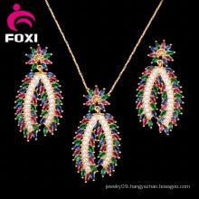 Dubai Design Jewelry Set of Ear and Pendant for Women