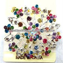 Broche de diamante de la flor del copo de nieve del traje 2013 BR05