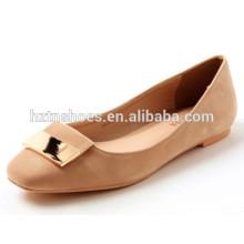 Toe quadrado com metal mulheres moda sapatos para sapatos de dança ballet