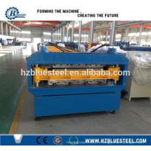 Machine de formage de toit en acier à double couche, Profils automatiques de toits trapézoïdaux de toit Machine de formage de rouleau de Hangzhou en Chine