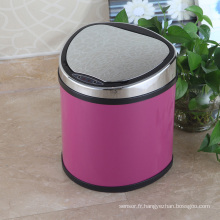 Dustbin de capteur aromatique de style européen rose pour maison / bureau / hôtel (D-9L)