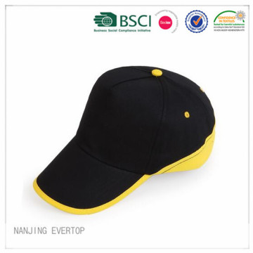 Men Black Piping Promotional Cap