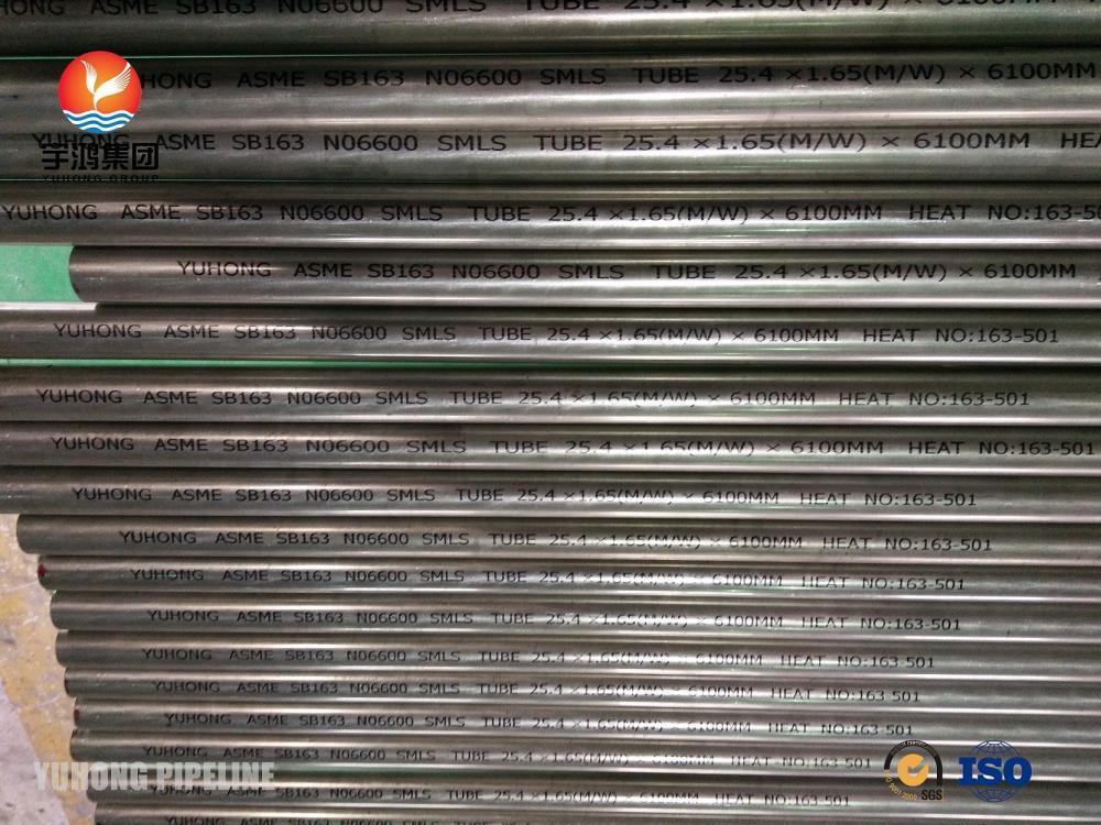 Asme Sb163 No6600 Inconel Tube