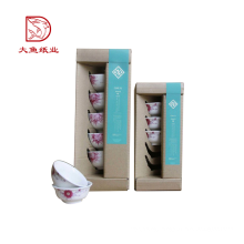 New design custom factory paper recyclable corrugated box for bowl