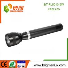 Vente en gros OEM Usage de la police Ultra Bright Batterie rechargeable en 3D Matériel en aluminium 300lm Matal 5w lampe torche militaire