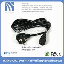 Стандартный 3-контактный стандартный 3-контактный адаптер для ноутбука Шнур питания переменного тока для DELL / Toshiba / HP / Asus