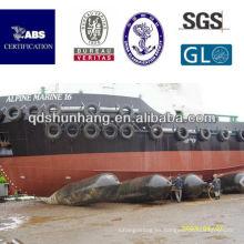Dia1.5mx15m garantía 2 años de globo marino de goma para el lanzamiento de la nave