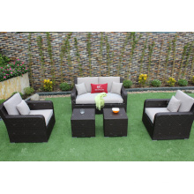 Best selling Latest New design synthetic rattan sofa garden furniture