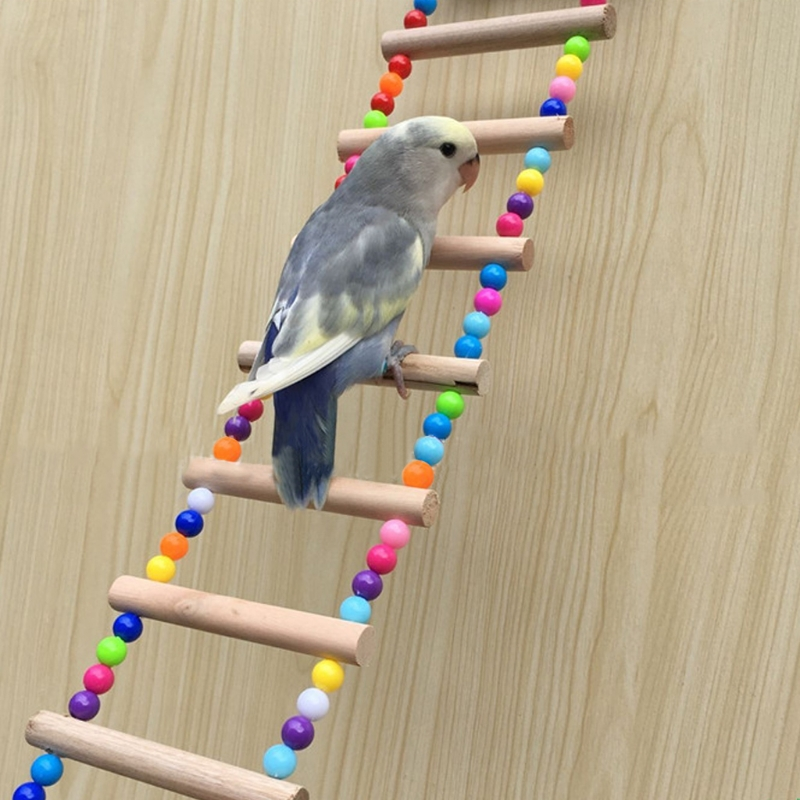 Birds-Pets-Parrots-Ladders-Climbing-Toy-Hanging-Colorful-Balls-With-Natural-Wood