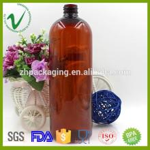 1liter PET химическая пластиковая бутылка для жидкости с пробкой