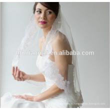 2017 nouveau style dentelle mariée longue voile de mariage de la cathédrale en gros