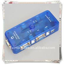 USB 2.0 Mini-Auto Автоматическая горячая клавиша KVM-переключатель 4-портовый ПК Доля монитор клавиатуры мыши