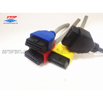 Connettore maschio OBD2 per automotive