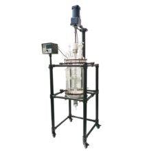 10L 20L High Quality Frame with Spray PTFE Pyrolysis  jacked glass reactor