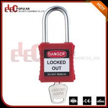 Elecpopular China en línea de venta de color rojo Keyed Alike PA plástico candado de seguridad