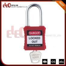 Elecpopular China Online Selling Colorful Red Keyed Alike PA cadeado de segurança de plástico