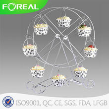 Powder Coating Metal Wire Ferris Wheel Cupcake Stand