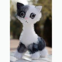 2015 lifelike cat plush toy