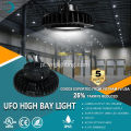 Luz UFO LED Highbay 150LM / W regulável de 1-10v