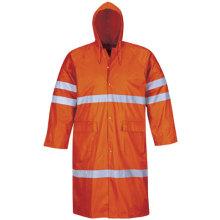 Hivis schützende Regenbekleidung reflektierende Mantel