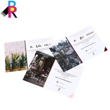 China factory high quality postcard book printing with glossy laminated