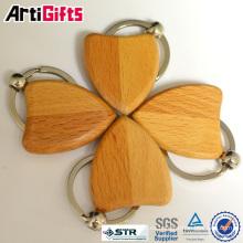 Nueva moda llavero de madera tallada