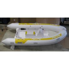 Barco inflável de casco rígido de alumínio inflável, barco de PVC e hippalon