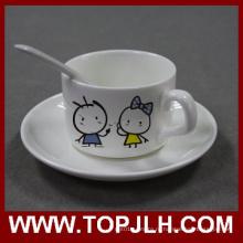 Кружка керамическая сублимации кофе с пластины & ложкой