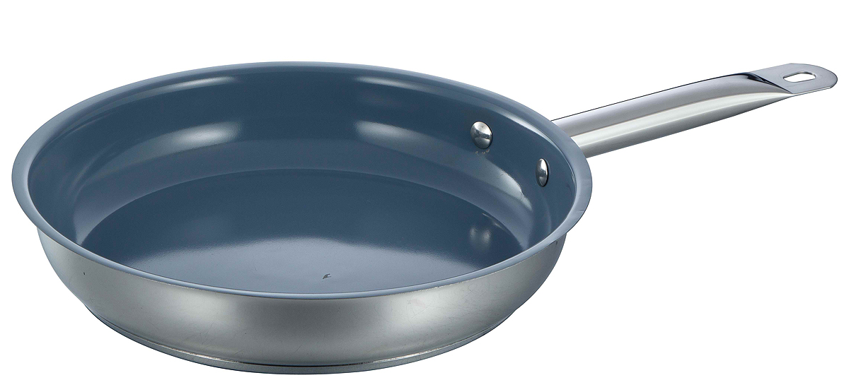 Ceramic stainless steel open frypan