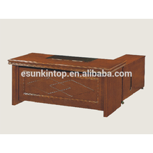 Executive office desk wooden veneer upholstery, Office desk accessories for sale (A-31)