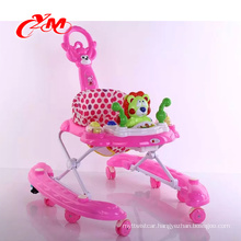 A factory sales safe swivel wheels baby walker with removable musical box/softextile baby walker/Comfort baby in a walker