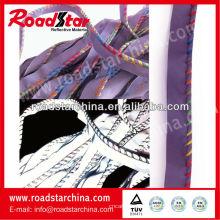 Ribetes reflectantes poliéster alta visibilidad costura con hilo de colores