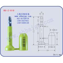 уплотнение контейнера БГ-З-010 таможенными печатями и пломбами