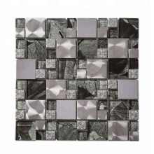 Soulscrafts Metal Glass Blend Mosaic for Kitchen Backsplash