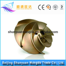 Latest Technology Marine die casting parts brass impeller for pumps