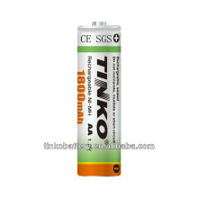With TINKO brand 1.2v AA rechargeable battery at a good price