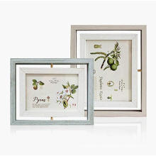 custom 5x7 inch Vintage Feel Rotating photo frame Children's picture frame or pet photo Double sided display Photo Frame