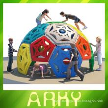 children build fitness equipment ball climbing