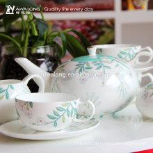 China-Fabrik nehmen Soem-personifizierten einfachen feinen keramischen Kaffee-Satz an