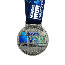 Médailles d'impression en métal argenté personnalisées