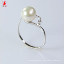 Fashion 925 Pure Silver White Pearl Ring (ER107)