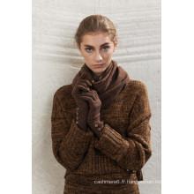 Vente chaude des gants en latex doublés de coton à bas prix