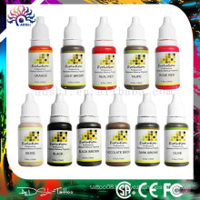 Micro permanent makeup pigment and permanent makeup tattoo color ink set supplier