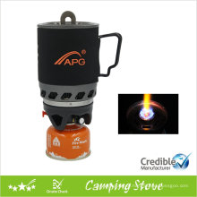Backpacking Gas Stove, Stove with pot